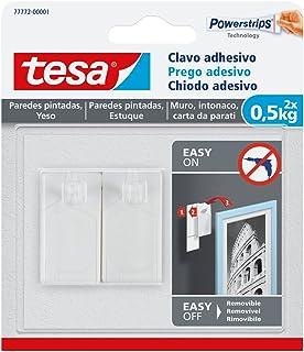 tesa TE77772-00001-00 SMS Clavo Adhesivo hasta 0,5Kg para Pared Pintada, Standard, Set de 2 Piezas