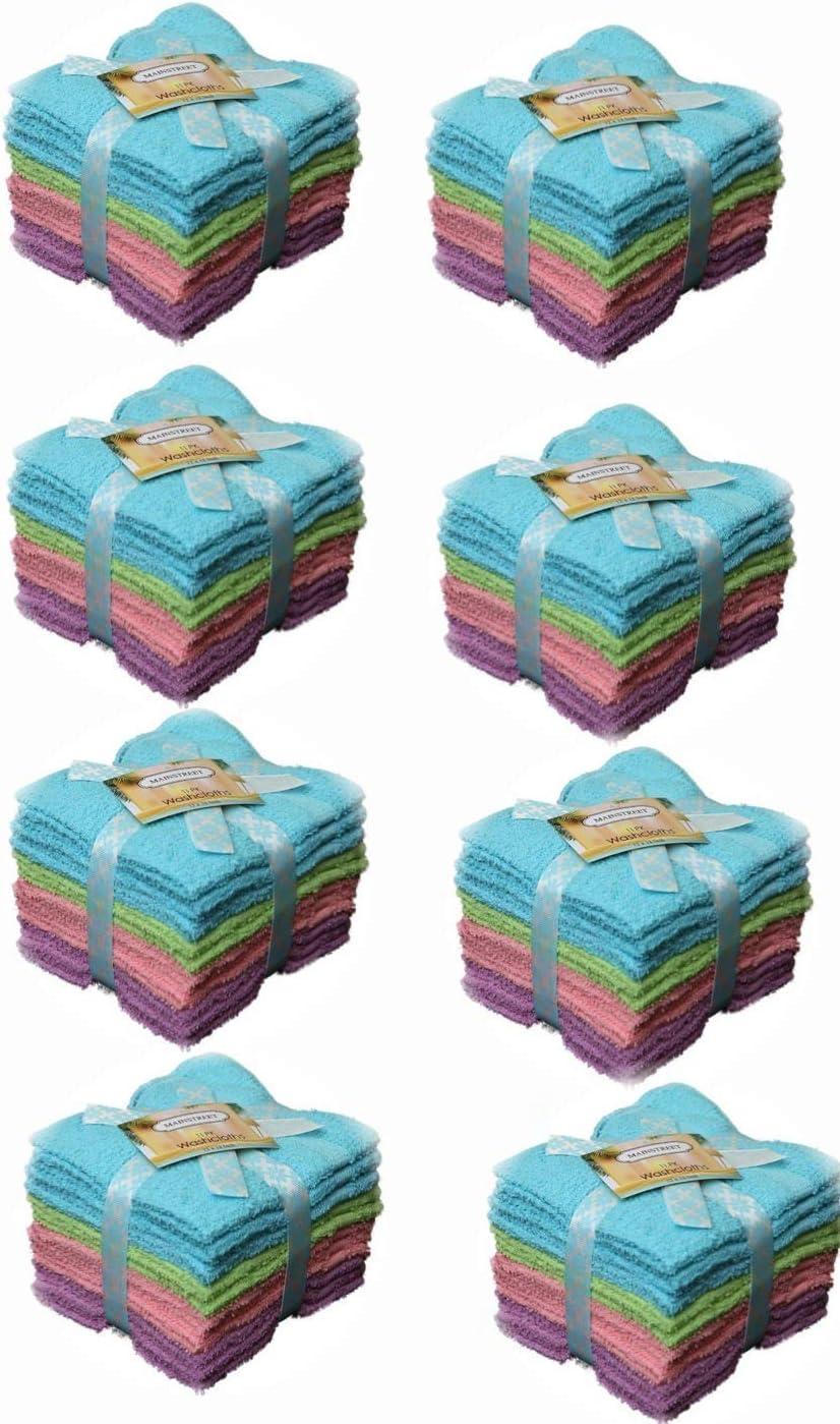 即納 本日の目玉 Groko Textiles Cotton Assorted Pastel Spun Ring Mix P Washcloths