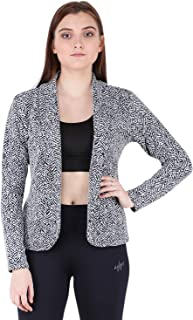 AARMY FIT Women's Summer Blazer Jaquard (Multicolor)