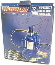 Westward 1ZKX7 Bottle Jack, 12 Ton, 9 1/2-18 1/2 In Lift