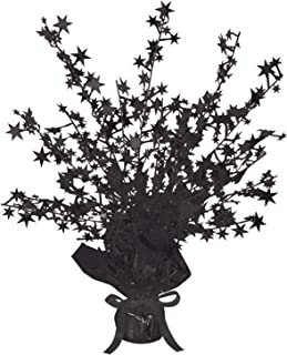 Beistle 50806-BK Star Gleam 'N Burst Centrepiece, Black