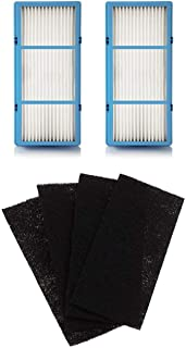 Nispira 2 Replacement HEPA Filter + 4 Charcoal Booster Pre Filter Compatible with Holmes AER1 Total Air Filter, HAPF30AT for Purifier HAP242-NUC
