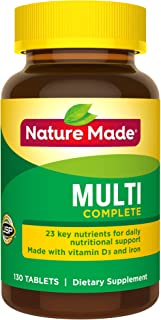 Nature Made Multi Complete with Iron 130 Tablets