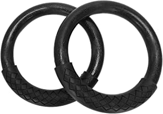YXZQ Fitness Equipment, 2 Pcs/Set Abs Gymnastics Rings Heavy Duty Plastic 28Mm Yoga Exercise Fitness Rings With Foam Handl...