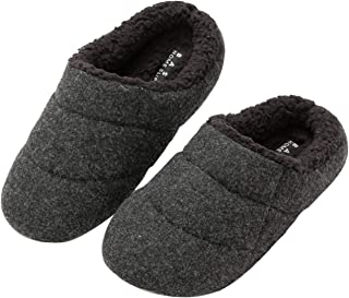 KOCOTA Men's and Women Boiled Wool Clog Slippers with Comfy Fuzzy Fleece Indoor Outdoor Shoes