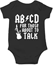 ABCD for Those About to Talk - Funny Rock - Cute One-Piece Infant Baby Bodysuit