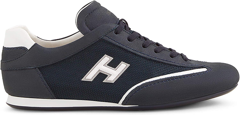Hogan Olympia Blu in Nabuk con Inserti in Tessuto - HXM05201684 ...