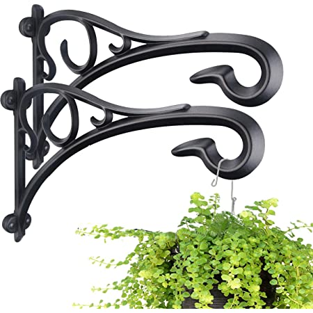 Hanging Plant Bracket,Heavy Duty Artistic Garden Hook (13 Inches/2 Pack) Thicker More Durable Rust-Resistant, for Hanging Bird Feeders,Lanterns,Potted,Outdoor Indoor Brackets Hooks