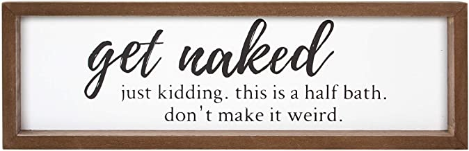 VILIGHT Bathroom Sign Wall Decor – Funny Rustic Farmhouse Decoration Housewarming..