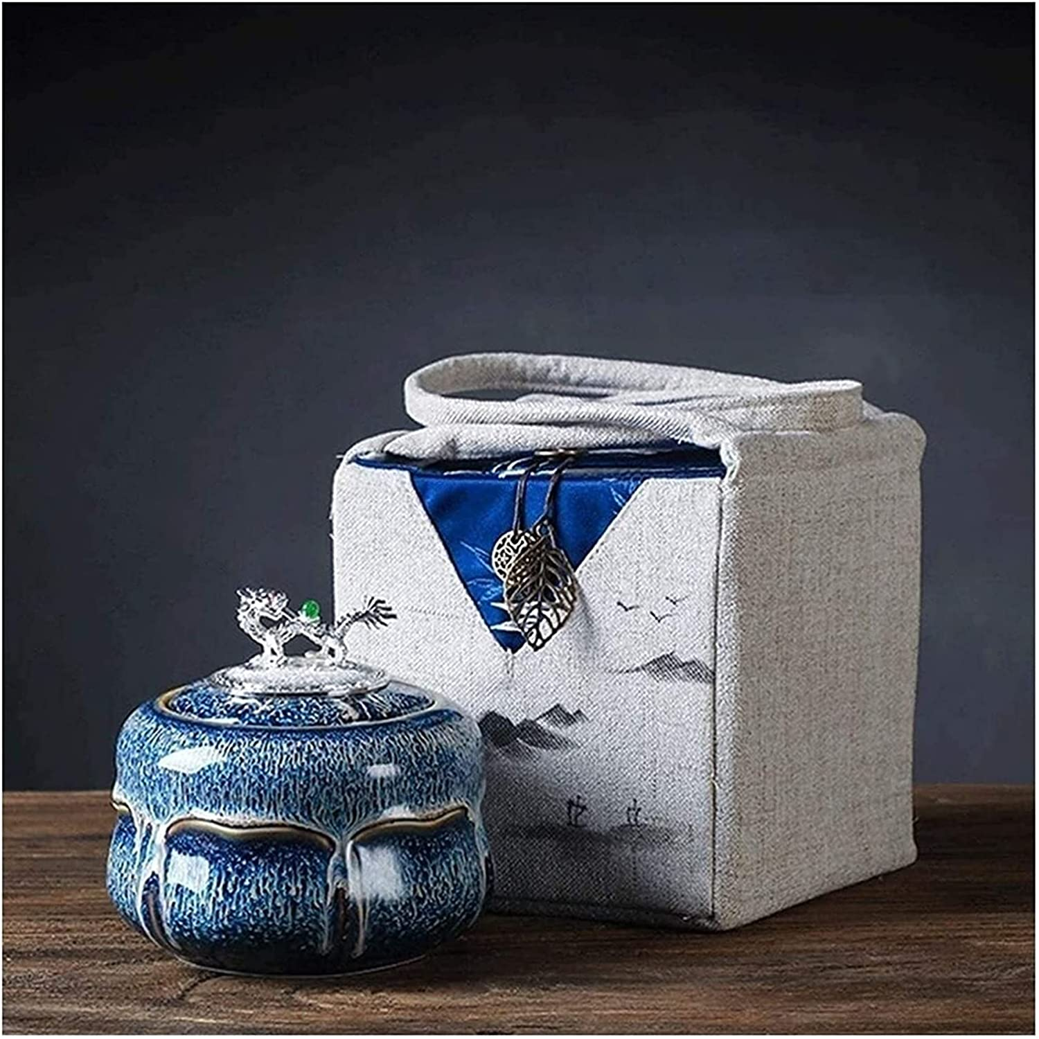 MTFZD Funeral Urn Mesa Mall for Human Limited time for free shipping Ashes Sea Packaging Gift Box Ceramic