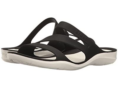 Crocs Swiftwater Sandal (Black/White) Women