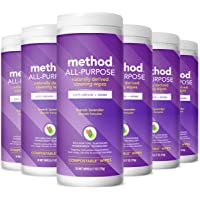 6 Pack Method All-Purpose Cleaning Wipes 6.1 Ounces (French Lavender)