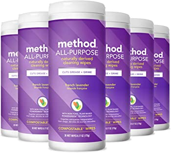 6 Pack Method All-Purpose Cleaning Wipes 6.1 Ounces