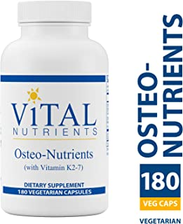 Vital Nutrients - Osteo-Nutrients (with Vitamin K2-7) - Bone Support Formula - 180 Vegetarian Capsules per Bottle