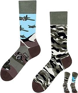 TODO COLOURS Calcetines divertidos con diseño – Land of Tanks Tank – loco calcetines multicolor para hombres mujeres y niños