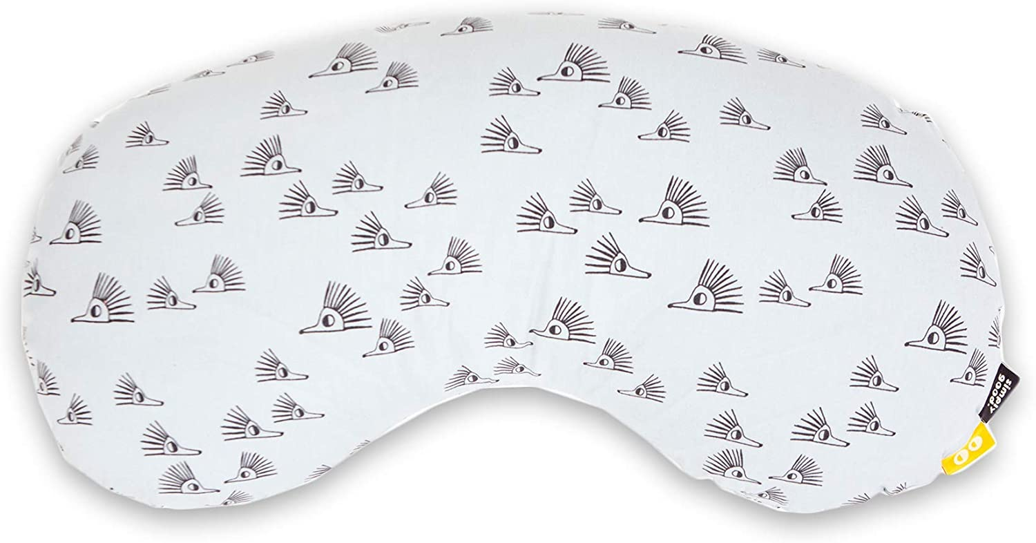 SIMPLY GOOD Compact Nursing Pillow, The Ultimate Nursing Support Pillow Ergonomic Design- for a Positive Breastfeeding or Bottle Feeding Experience. Washable Cover, Portable (Grey Hedgehogs)