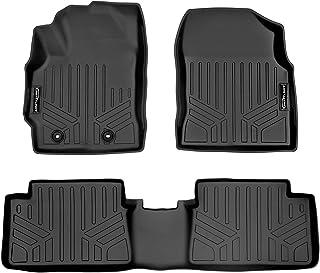 SMARTLINER Custom Fit Floor Mats 2 Row Liner Set Black for 2017-2018 Toyota Corolla iM / 2016 Scion iM