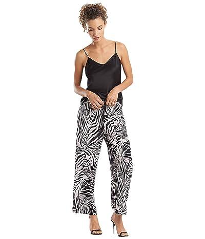 Natori Zebra Viscose Voile Pants (Black/Silver Pearl) Women