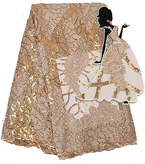 Pour la fête Nigeria dentelle tissus africains Paillettes dentelle Tissu nuptiale Tulle dentelle tissus for soirée de mari...