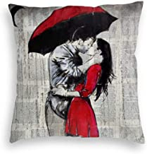 Magic Gathering Red Umbrella Lover Velvet Soft Soild Decorative Square Throw Pillow Covers Set Cushion Case for Sofa Bedroom Car, 16