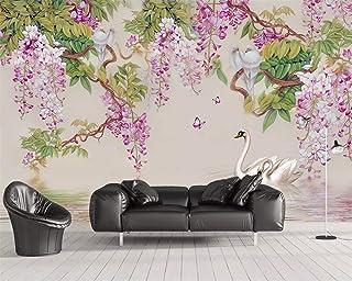 TIANXINBZ Custom fashion classic modern hand painted grape bird bedroom TV sofa background decorative painting wallpaper t...