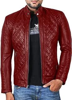 Laverapelle Men's Genuine Lambskin Leather Jacket (Black, Quilted Jacket) - 1501491
