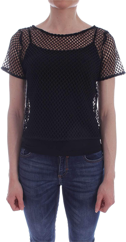 Carla Montanarini Women's 2694G15BLACK Black Polyester Blouse
