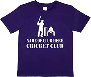 Print4u Personalised T-Shirt Name of Club Here Cricket