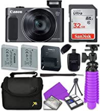 Canon PowerShot SX620 HS Digital Camera with Sandisk 32 GB SD Memory Card + Extra Battery + Tripod + Case + Card Reader + ...