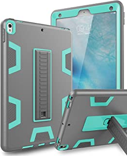TOPSKY iPad Air 2019 Case,iPad Air 3 10.5 Case,iPad Pro 10.5 Case, Heavy Duty Rugged Shockproof Kids Proof Hybrid Sturdy Protective Cover Case for iPad Air 2019/iPad Pro 10.5 2017 Grey Green