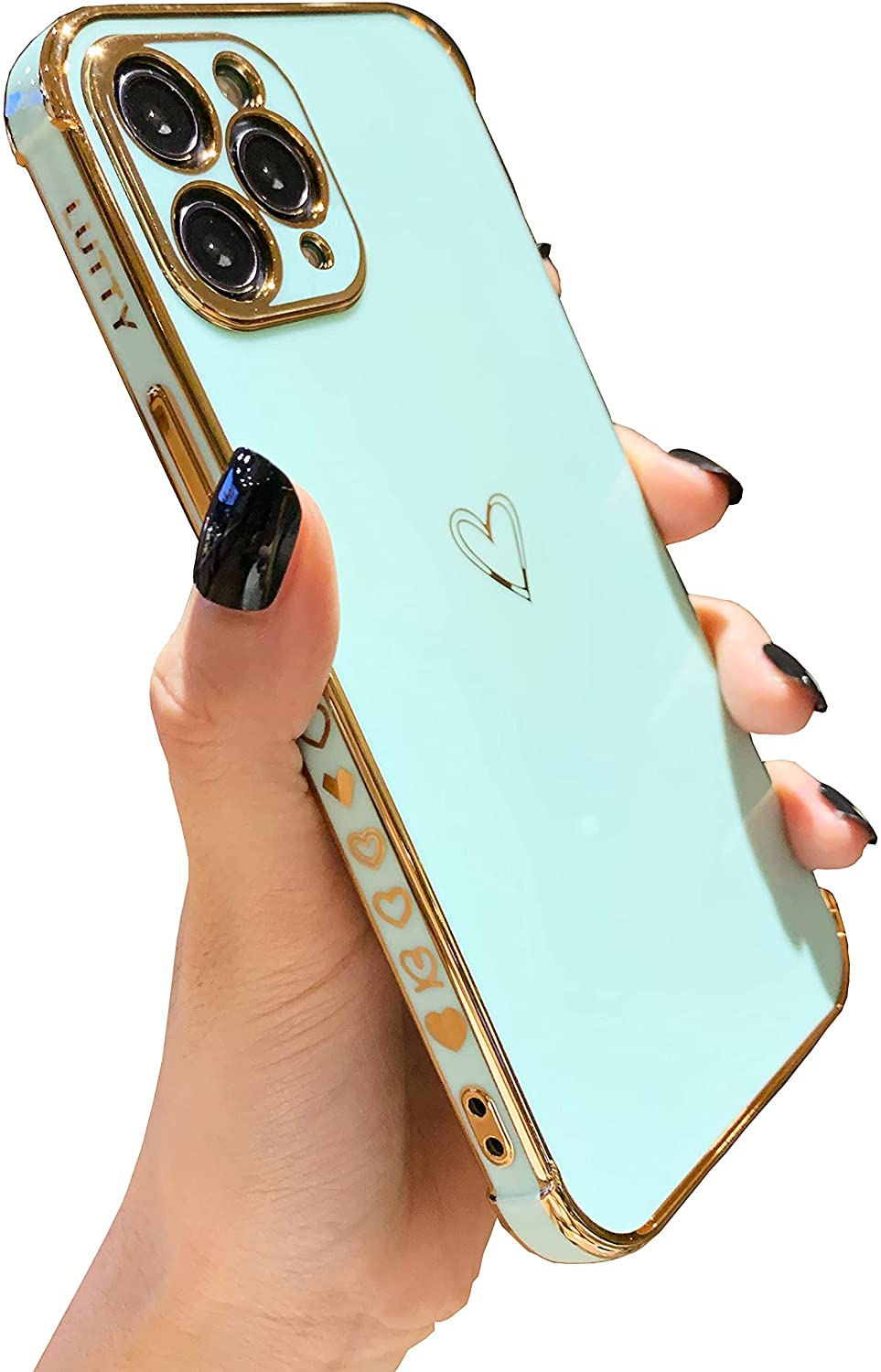 LUTTY Compatible with iPhone 11 Pro Max Case for Women, Aesthetic Soft Phone Case for Girls [Shockproof Raised Bumper Corners] [Full Reinforced Camera Protection] Case Cover (6.5 inches) -Candy Green