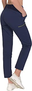 Little Donkey Andy Women's Stretch Quick Dry Ankle Pants with Drawstring for Travel Training Running Jogging Active Sport Hiking
