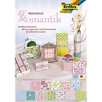6 Zoll Einklebebuch Hintergrund Papier Mit Einseitigem Muster mooderff Motivblock 24 Blatt DIY Album Einklebebuch Karten