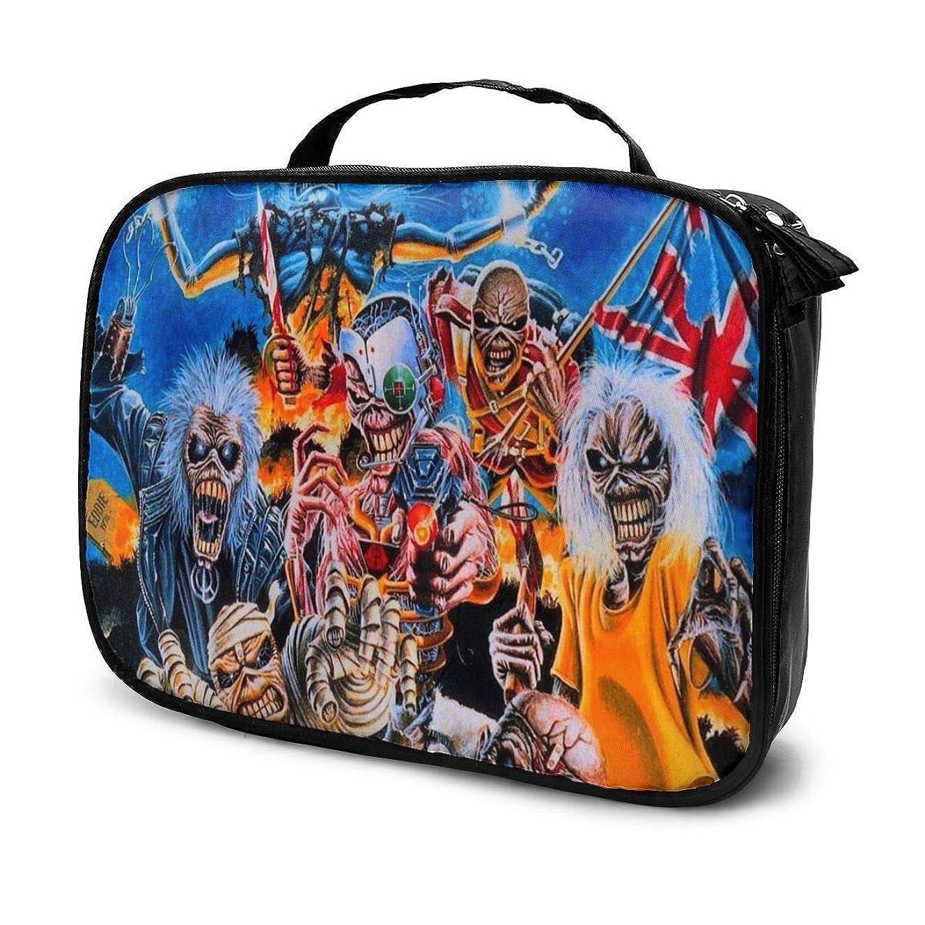 ウッズペインティングソーシャル化粧ポーチ 音楽Iron Maiden 女性化粧品バッグ ビューティー メイク道具 フェイスケアツール 化粧ポーチメイクボックス ホーム、旅行、ショッピング、ショッピング