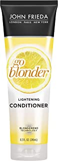 John Frieda Sheer Blonde Go Blonder Conditioner, Gradual Lightening Conditioner, 8.3 Ounce, with Citrus and Chamomile, fea...