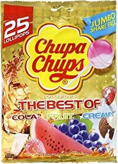 5 Pack of Chupa Chups Lollipops Best of 25 Pack