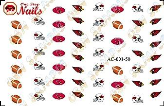 Cardinals water-slide nail decals (tattoos) V1 (Set of 50)