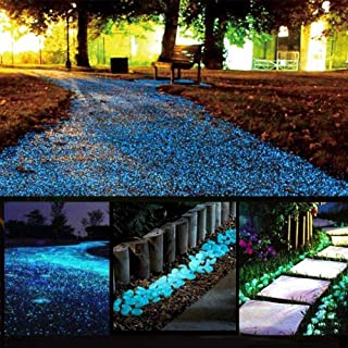(blue) - chic style Glow Stones, Glowing in the Dark Pebbles 150pcs for Walkways, Window, Yard Grass, Driveway, Outdoor De...