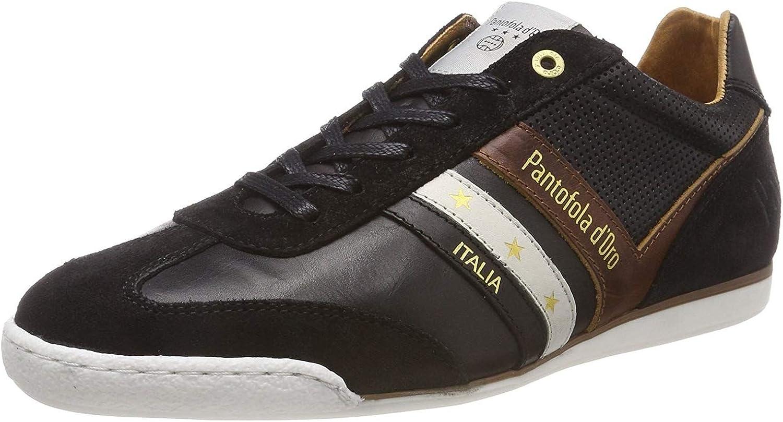 Pantofola d'Ora Vasto herren Low Schwarz Herren Leder Trainers Schuhe