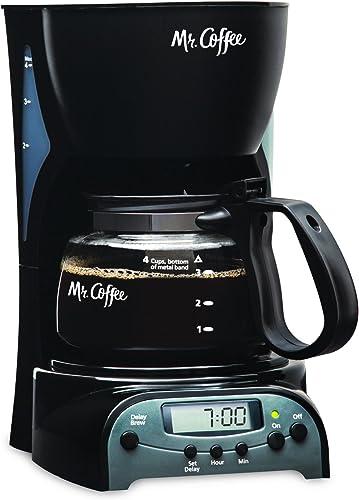 2021 Mr. Coffee lowest online sale 4-Cup Programmable Coffee Maker, Black (DRX5-RB) online