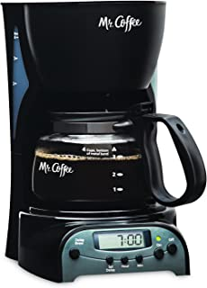 Mr. Coffee 4-Cup Programmable Coffee Maker, Black (DRX5-RB)