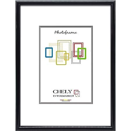 Chely Intermarket,Marco de Fotos 70x100 cm (Negro) Grandes para Pared MOD-312. Decoración | Fotografías de Boda | Listado de Precio | Certificados universitarios(312-70x100-3,50)