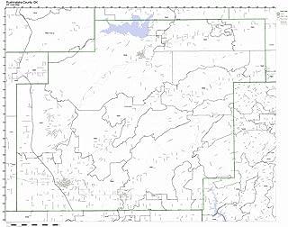Pushmataha County, Oklahoma OK ZIP Code Map Not Laminated