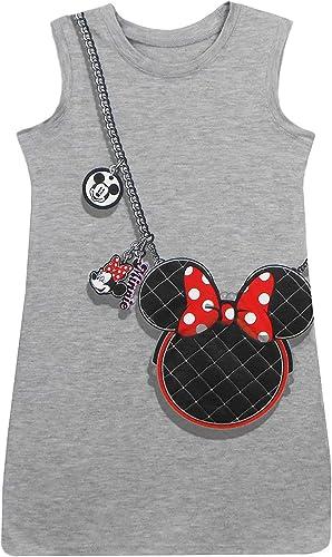 Disney Youth Minnie Head bourse Trompe l'oeil Robe gris grand