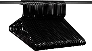 Neaties American Made Black Plastic Hangers with Bar Hooks, Plastic Clothes Hangers Ideal for Everyday Use, Clothing Standard Hangers, 45pk