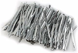JoyGlobal Aluminium Metallic Silver Chocolate Twisters Ribbon Ties Twist Ties Chocolate Decorating Tool (Pack of 400 Pieces)