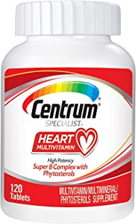 Centrum Specialist Heart Complete Multivitamin Supplement (120Count Tablets)