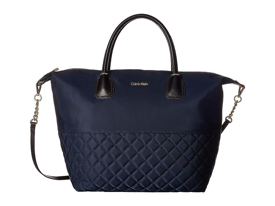 Calvin Klein Florence Logo Nylon Tote Logo Combo Tote Handbags