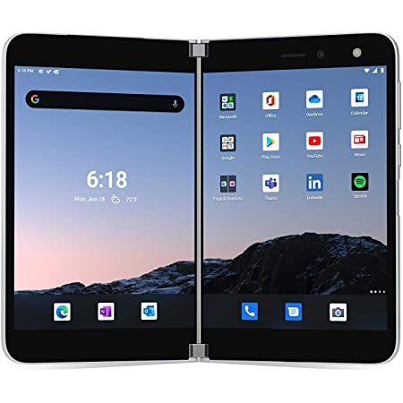 Microsoft Surface Duo Foldable Tablet, 128GB, Unlocked All Carriers - Glacier (Renewed)