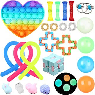 Fidget Toys Pack, 24pcs Sensory Fidget Toy Set Stress Relief Toys Variety for Kids Anxiety Autism Gift for Easter Fillers ...